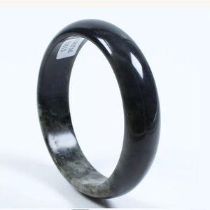 59mm certified Black Jade Bracelet Bangle